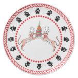 Placa de cena de los cocineros de Whippet de los á Plato De Comida