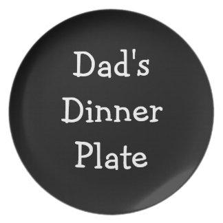 Placa de cena de los papás platos