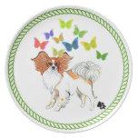 Placa de cena de Papillon de los ángeles de Gulliv Plato