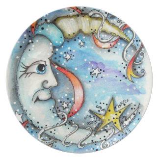 Placa de cena de Sr. Moon Plato De Cena