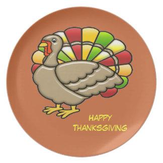 Placa de cena de Turquía de la acción de gracias Platos De Comidas