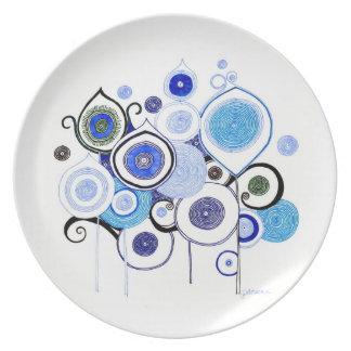 Placa de cena del deseo del Amy Platos