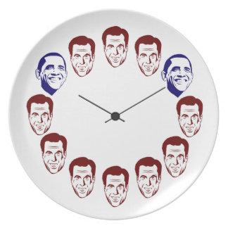 """""""Placa de cena del en punto de Barack"""" Platos Para Fiestas"""