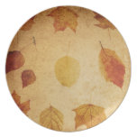 placa de cena del otoño de la acción de gracias platos para fiestas
