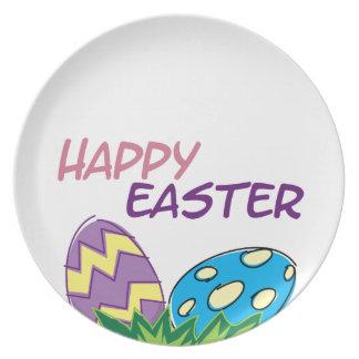 Placa de cena feliz de Pascua Plato Para Fiesta