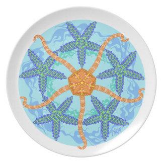 Placa de cena frágil de la mandala de las plato
