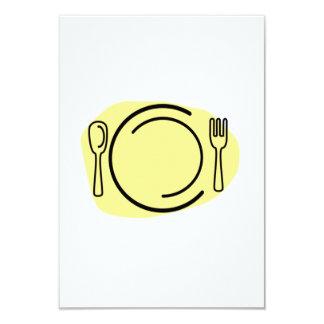 Placa de cena invitación 8,9 x 12,7 cm
