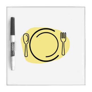 Placa de cena pizarras blancas