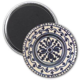 Placa de cerámica azul iman