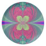 Placa de cerámica de la flor de la pasión de Value Plato