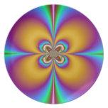 Placa de cerámica de la flor de la pasión de Value Plato De Comida