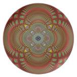 Placa de cerámica de la flor de la pasión de Value Plato De Cena