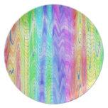 Placa de cerámica del modelo abstracto del color e plato de cena