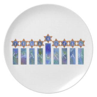 Placa de Chanukkah Plato De Cena