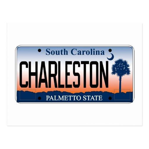 Placa de Charleston Postales