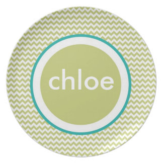 Placa de Chevron - nombre Platos Para Fiestas