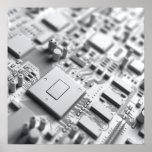 Placa de circuito abstracta poster
