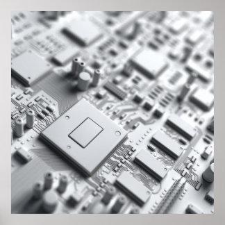 Placa de circuito abstracta póster