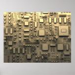 Placa de circuito abstracta posters