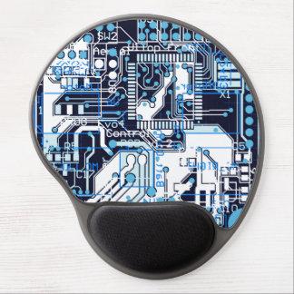 Placa de circuito azul alfombrillas de raton con gel