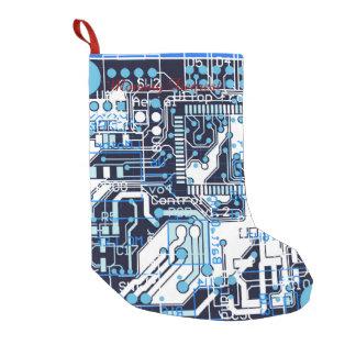 Placa de circuito azul calcetín navideño pequeño