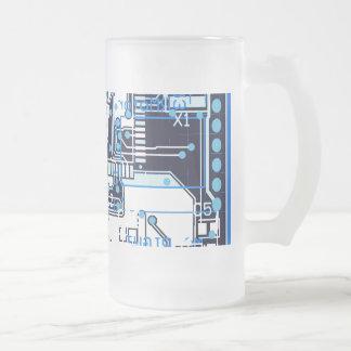 Placa de circuito azul jarra de cerveza esmerilada