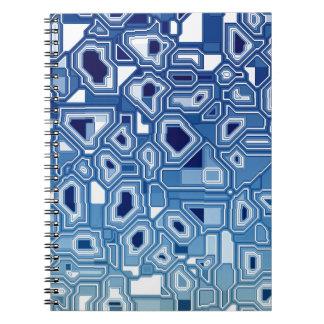 Placa de circuito azul libros de apuntes