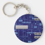 Placa de circuito azul llaveros personalizados