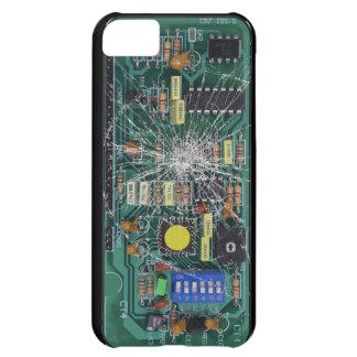 Placa de circuito de cristal quebrada