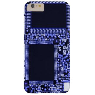 Placa de circuito de la alta tecnología en funda barely there iPhone 6 plus