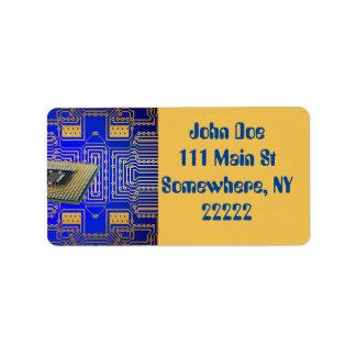 Placa de circuito de la electrónica etiqueta de dirección