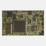 Placa de circuito de la impulsión dura del ordenad rectangular pegatina
