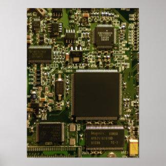 Placa de circuito de la impulsión dura del ordenad póster