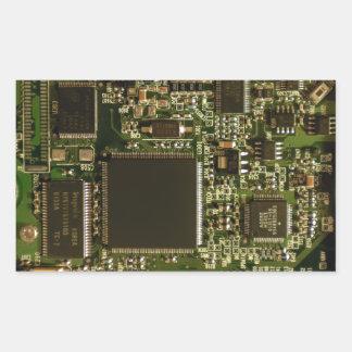 Placa de circuito de la impulsión dura del rectangular pegatinas