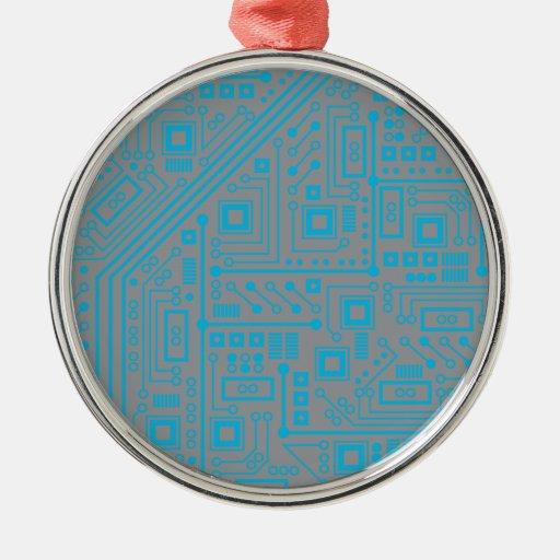 Placa de circuito de Robotika Adorno Navideño Redondo De Metal