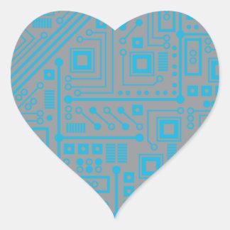 Placa de circuito de Robotika Calcomania Corazon Personalizadas