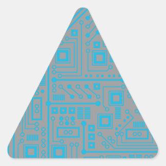 Placa de circuito de Robotika Pegatina De Triangulo