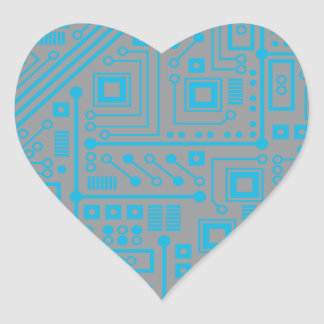 Placa de circuito de Robotika Pegatina En Forma De Corazón