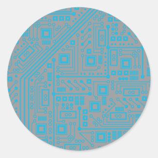 Placa de circuito de Robotika Pegatina Redonda