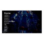 Placa de circuito del azul de la perspectiva plantilla de tarjeta de visita