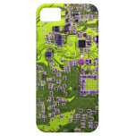 Placa de circuito del friki del ordenador - amaril iPhone 5 Case-Mate cárcasas