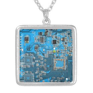 Placa de circuito del friki del ordenador - azul grimpolas