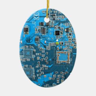 Placa de circuito del friki del ordenador - azul adornos