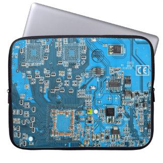 Placa de circuito del friki del ordenador - azul funda ordendadores