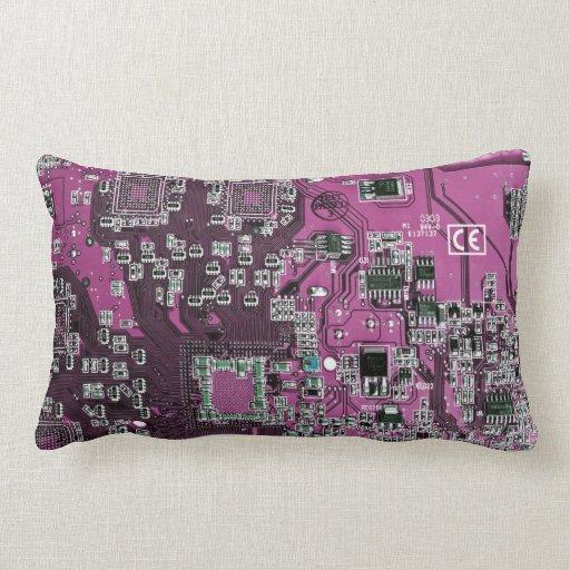 Placa de circuito del friki del ordenador - cojín