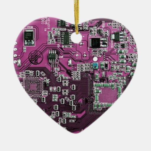 Placa de circuito del friki del ordenador - ornamentos de reyes magos