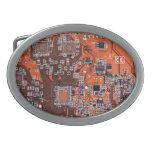 Placa de circuito del friki del ordenador - naranj hebillas cinturon