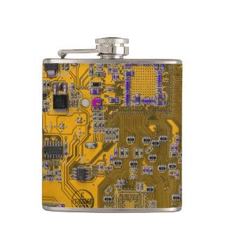 Placa de circuito del friki del ordenador - naranj petaca