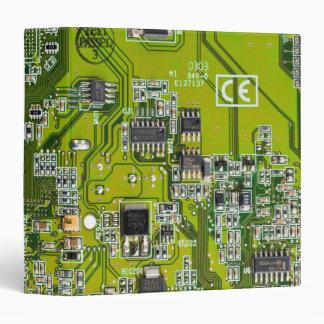 """Placa de circuito del friki del ordenador - oro carpeta 1 1/2"""""""