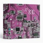 Placa de circuito del friki del ordenador - púrpur